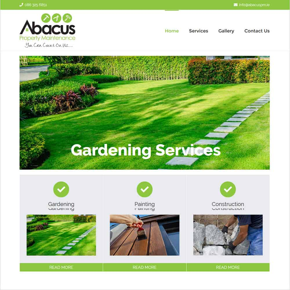Abacus Property Maintenance - New Website Launched