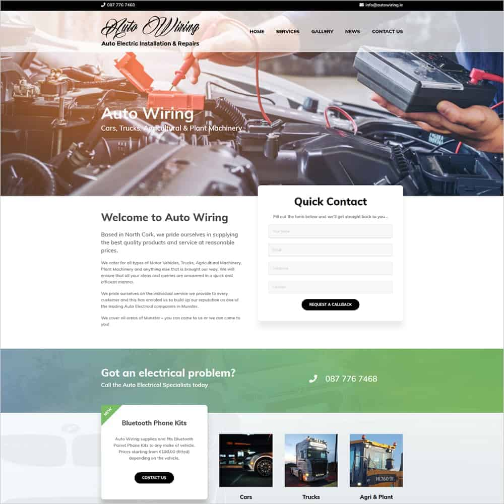 Auto Wiring - New Website Launched