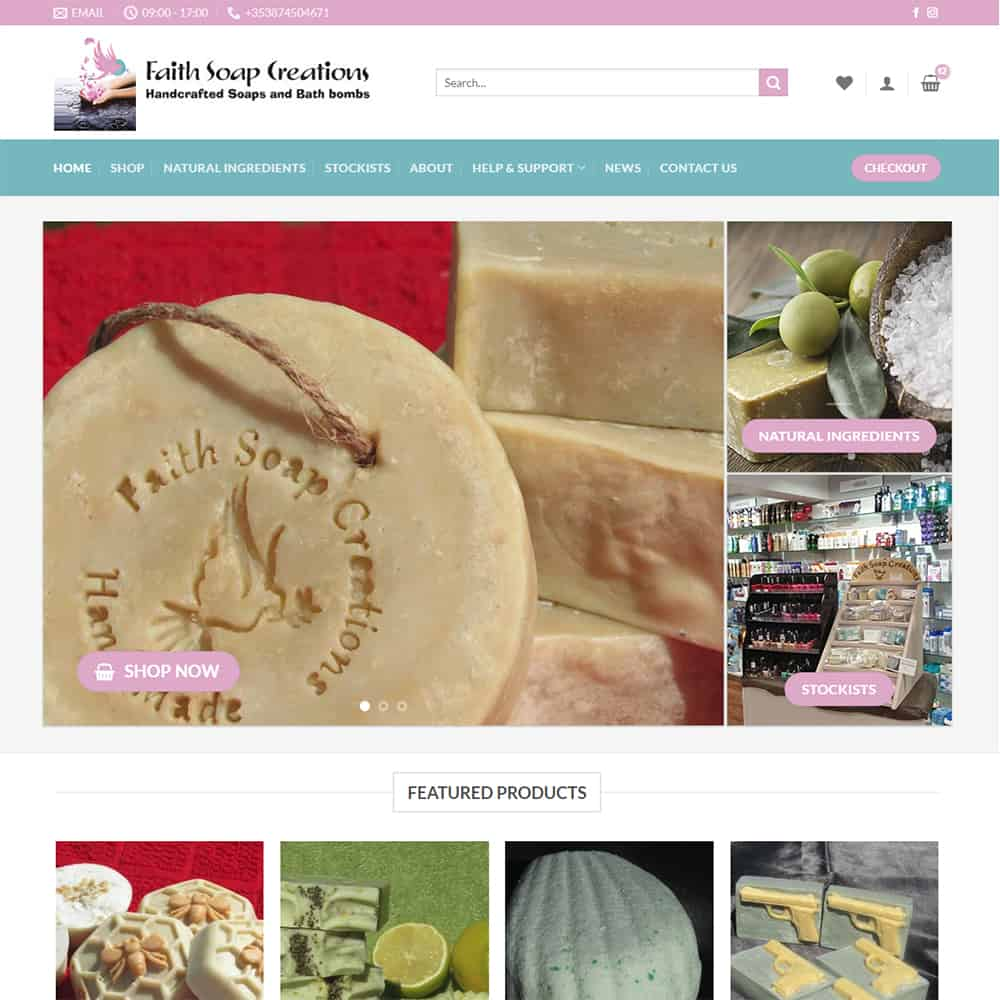 Faith Soap Creations - New Website Launched