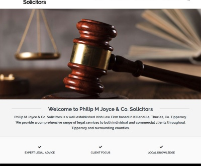 Philip M Joyce & Co. Solicitors - New Website Launched